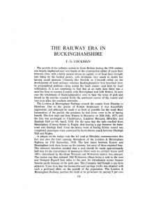 THE RAILWAY ERA IN BUCKINGHAMSHIRE