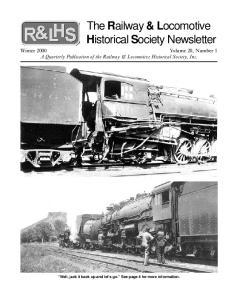 The Railway & Locomotive Historical Society Newsletter