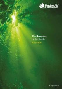 The Ramadan Pocket Guide