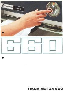 The Rank Xerox 660 Najszybsza Kserograficzna biurkowa, kopiarka-powielacz