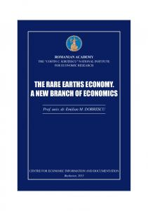 THE RARE EARTHS ECONOMY. A NEW BRANCH OF ECONOMICS