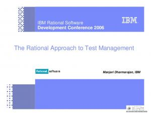The Rational Approach to Test Management