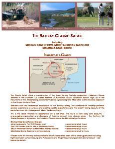 THE RATTRAY CLASSIC SAFARI