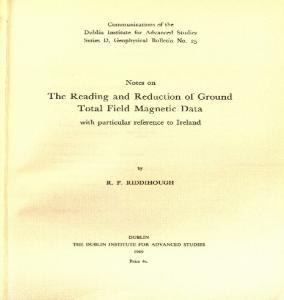 The Reading and Reduction of Ground Total Field Magnetic Data