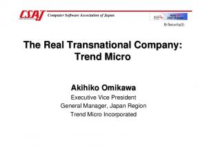 The Real Transnational Company: Trend Micro