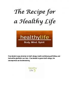 The Recipe for a Healthy Life