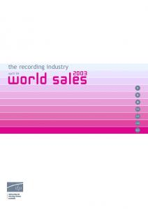 the recording industry world sales april 04