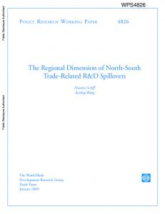 The Regional Dimension of North-South Trade-Related R&D Spillovers