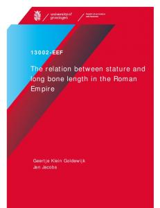 The relation between stature and long bone length in the Roman Empire