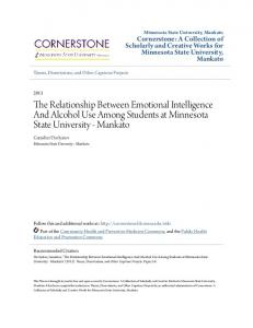 The Relationship Between Emotional Intelligence And Alcohol Use Among Students at Minnesota State University - Mankato