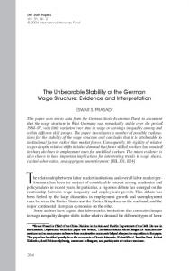 The relationship between labor market institutions and overall labor market performance