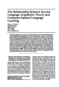 The Relationship Between Second Language Acquisition Theory and Computer-Assisted Language Learning