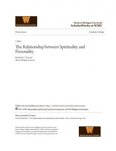 The Relationship between Spirituality and Personality