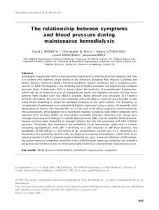 The relationship between symptoms and blood pressure during maintenance hemodialysis