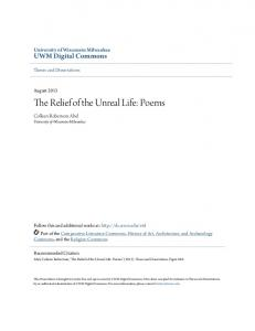 The Relief of the Unreal Life: Poems