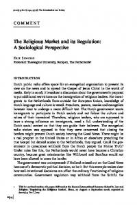 The Religious Market and its Regulation: A Sociological Perspective