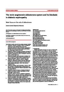 The renin-angiotensin-aldosterone system and its blockade