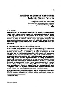 The Renin-Angiotensin-Aldosterone System in Dialysis Patients
