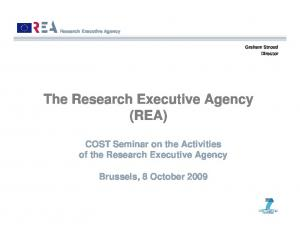 The Research Executive Agency (REA)