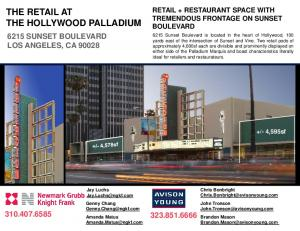 THE RETAIL AT THE HOLLYWOOD PALLADIUM