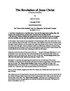 The Revelation of Jesus Christ A Verse by Verse Study