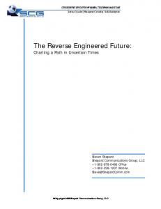 The Reverse Engineered Future: Charting a Path in Uncertain Times