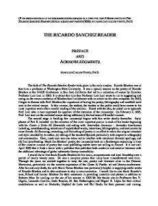 THE RICARDO SANCHEZ READER