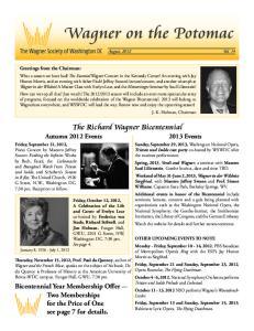 The Richard Wagner Bicentennial