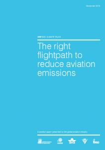 The right flightpath to reduce aviation emissions