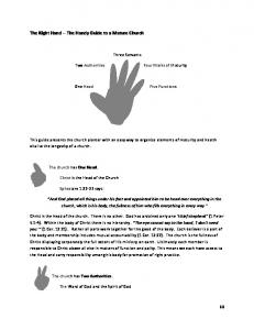 The Right Hand -- The Handy Guide to a Mature Church