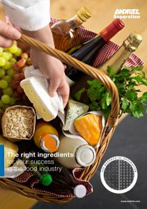 The right ingredients for your success in the food industry