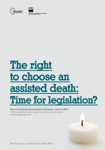 The right to choose an assisted death: