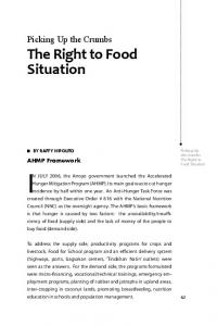 The Right to Food Situation