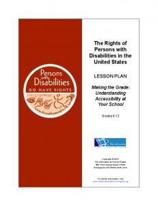 The Rights of Persons with Disabilities in the United States
