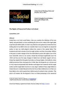 The Rights of Unmarried Fathers in Ireland