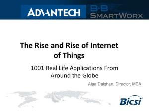 The Rise and Rise of Internet of Things