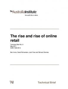 The rise and rise of online retail