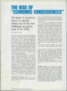 THE RISE OF ECONOMIC CONSEQUENCES