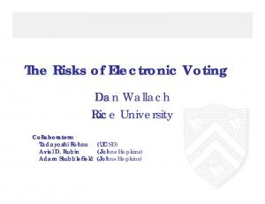 The Risks of Electronic Voting