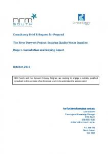 The River Derwent Project: Securing Quality Water Supplies