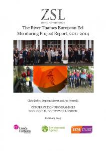 The River Thames European Eel Monitoring Project Report,