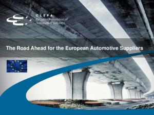 The Road Ahead for the European Automotive Suppliers