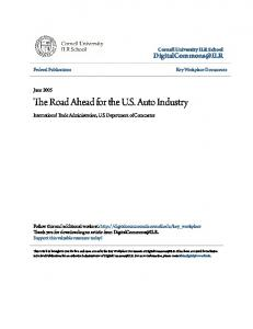 The Road Ahead for the U.S. Auto Industry