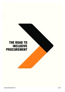 THE ROAD TO INCLUSIVE PROCUREMENT
