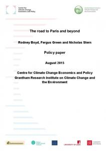The road to Paris and beyond. Policy paper