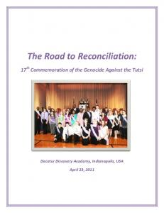 The Road to Reconciliation: