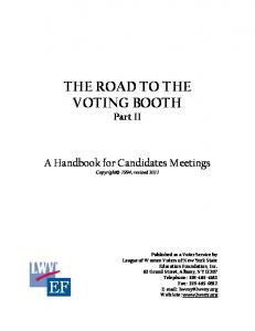 THE ROAD TO THE VOTING BOOTH