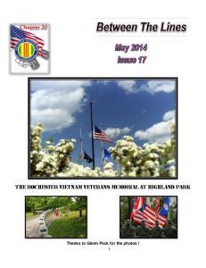 The Rochester Vietnam Veterans Memorial at Highland Park