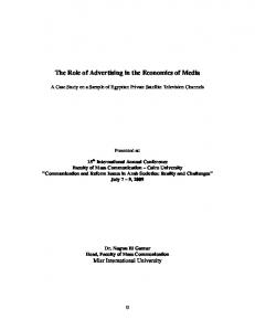 The Role of Advertising in the Economics of Media