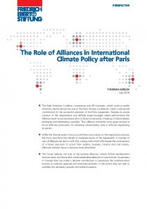 The Role of Alliances in International Climate Policy after Paris